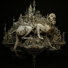 Meticulously Detailed Sculptures of Churches as Tanks