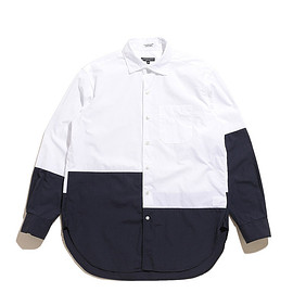 ENGINEERED GARMENTS - Spread Collar Shirt-100's 2ply Broadcloth-White