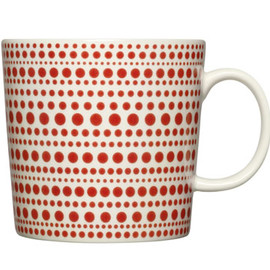 iittala - Kulku Mug,Red Set of 2 by Oiva Toikka