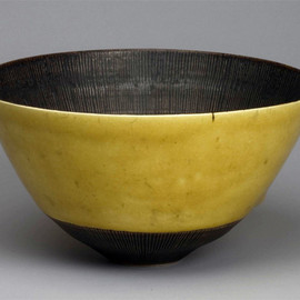Lucie Rie - 黄釉鉢