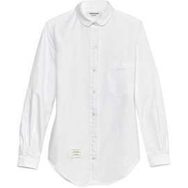 THOM BROWNE - Thom Browne Small Round Collar White Oxford Shirt
