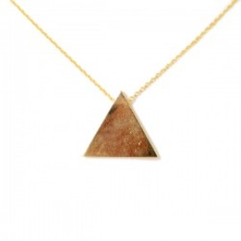 lilou - TRIANGLE NECKLACE gold