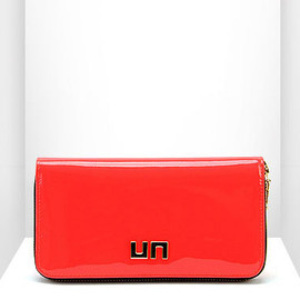 UNITED NUDE - Zipper Wallet Fluo Red Patent Leather