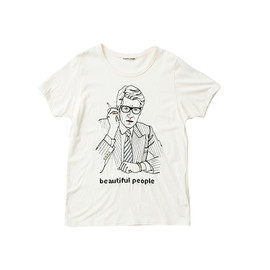 beautiful people - 100/2jersey smorking gentleman T-shirt