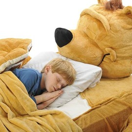 Fuzzy Brown Bear Bed Cover
