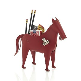 Crate & Barrel - Leather Horse Desk Organizer