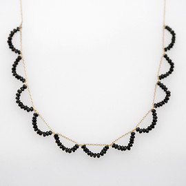 Rubus - ripples short necklace (spinel)