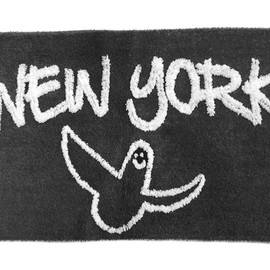 SECOND LAB., Mark Gonzales - GONZ NY RUG- by Mark Gonzales(GRAY×WHITE)