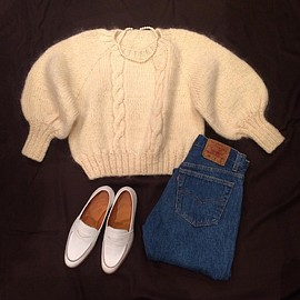 vintage - Hand knit sweater