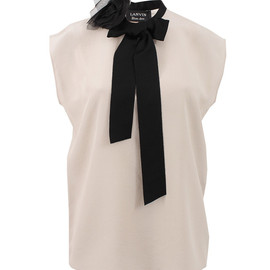 LANVIN - Key Hole Neck With Tie Blouse