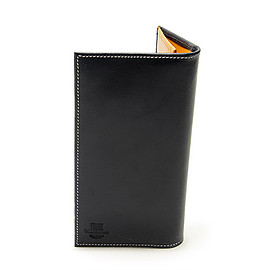 Whitehouse Cox - S9697 Long Wallet Holiday Line-Navy×Yellow