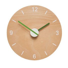BARNABY TUKE - WOODEN CLOCK (green)
