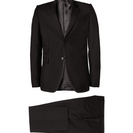 Givenchy - Slim-Fit Contrast-Trim Wool and Mohair-Blend Suit
