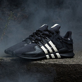 adidas, UNDEFEATED - EQT Support ADV - Black/Black/White