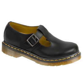 Dr.Martens - POLLEY T-BAR SHOE BLACK SMOOTH