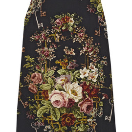 DOLCE&GABBANA - FW2014 FLORAL SLEEVELESS VISCOSE CADY DRESS