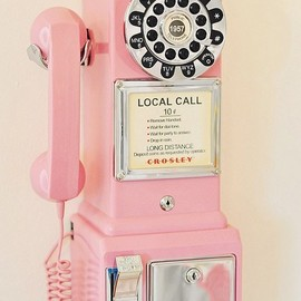 Crosley - Pink Pay Phone