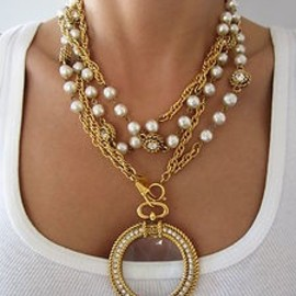 CHANEL - Chanel Necklace, pearls and ring top