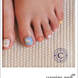 coquine nail - colorful+star