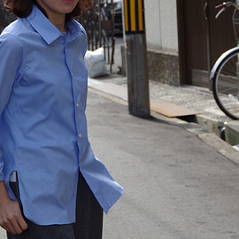 YAECA - dress shirt long (sax blue)