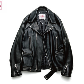 uniform experiment - JAMES GROSE LEATHER RIDERS JACKET (MANILA)