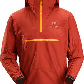 Arc'teryx - Alpha SL Pullover Men's Lightweight, waterproof, pullover-style GORE-TEX® PacLite® jacket with helmet compatible hood. Our lightest, most packable waterproof shell designed for take-anywhere emergency weather protection.