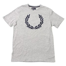 Fred Perry - Fred Perry T-Shirt Vintage Marl Flocked - Grey /