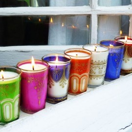 moroccan tea glass candles