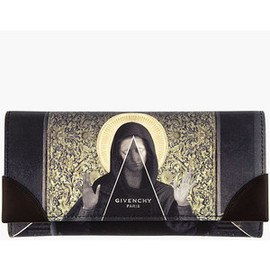 GIVENCHY - Black & Gold Madonna Print Wallet