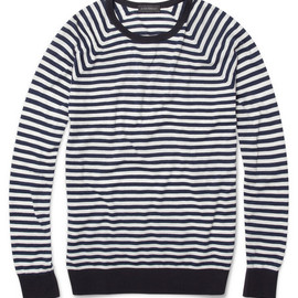 JOHN SMEDELY - Dominic Striped Cotton Sweater