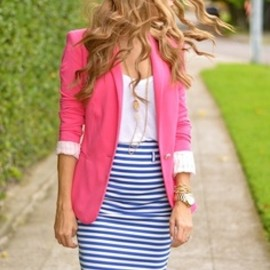 Striped  and pink