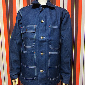 SEARS - 1970's-1980's DEAD STOCK Sears Blanket Lined Denim Chore Jacket1970's〜1980'sデッドストック ブランケットデニムカバーオール