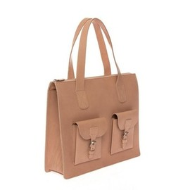 pieces - ELIVE LEATHER BAG NUDE