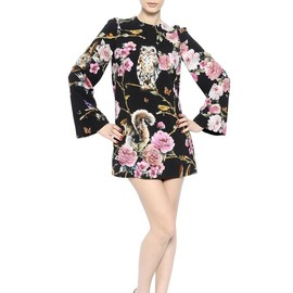 DOLCE&GABBANA - FW2014 FLORAL PRINT STRETCH VISCOSE CADY DRESS
