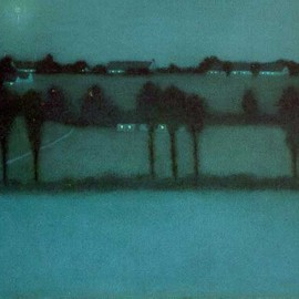 William Degouve de Nuncques (Belgian, 1867-1935) - Effet de nuit, 1896, Pastel on paper