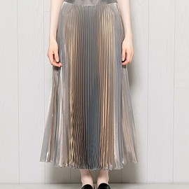 BEAUTY&YOUTH UNITED ARROWS - METALLIC PLEATED SKIRT