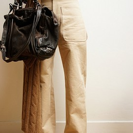 AURALEE - WASHED DOUBLE CLOTH PANTS