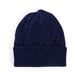 ANONYMOUS ISM - COTTON CABLE WATCH CAP INDIGO