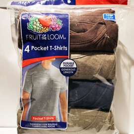 FRUIT OF THE LOOM - 4pack Pocket Tee