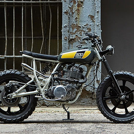 YAMAHA - Sunshine State Of Mind: a custom SR500 by Powder Monkees and Federal Moto. '78