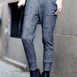 ROMWE - Brief Lacing Dark Grey Pants