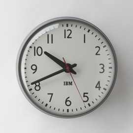 "Schoolhouse - 1960s IBM 13.5"" Standard Issue Clock"