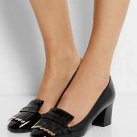 LANVIN - Fringed patent-leather pumps