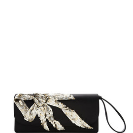 MARC JACOBS - RESORT2015 Double Trouble Clutch With Embroidered Antique Silver Bow