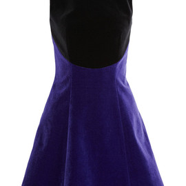 CHRISTOPHER KANE - Two-tone velvet dress