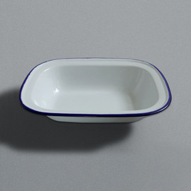 LABOUR AND WAIT - Enamel Pie Dish Large