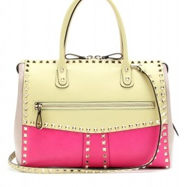 VALENTINO - Valentino - ROCKSTUD COLOUR BLOCK LEATHER TOTE - mytheresa.com GmbH