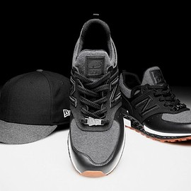 New Era, New Balance - 574 Sport - Black/Grey/White/Gum