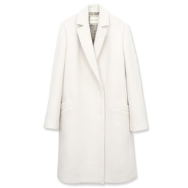 AULA AILA - MELTON CHESTER COAT WITH FUR