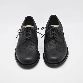 deco&boco - m chip shoes   pueblo×cut leather black